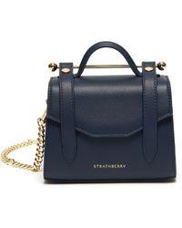 Strathberry Allegro Micro' Satchel Style Crossbody Bag - Blue