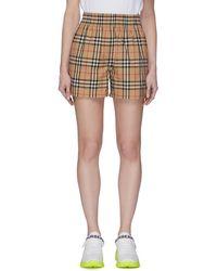 Burberry Side Stripe Vintage Check Shorts - Brown