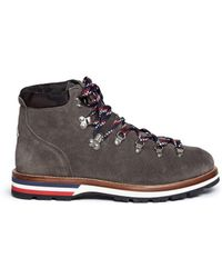 Moncler 'peak' Suede Hiking Boots - Brown