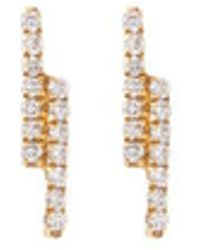 Khai Khai - 'linear' Diamond 18k Yellow Gold Earrings - Lyst