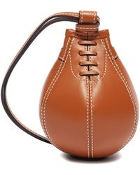 JW Anderson Nano Punch Bag' In Calfskin Leather - Brown