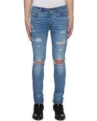 Amiri Thrasher Plus' Distressed Skinny Jeans - Blue
