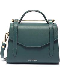Strathberry 'allegro Mini' Leather Satchel - Green