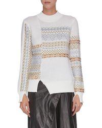 3.1 Phillip Lim Knitted Fair Isle Sweater - White