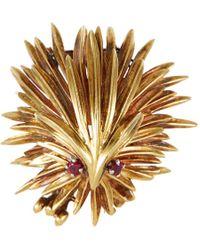 Palais Royal Cartier 'porcupine' Ruby Gold Brooch - Metallic