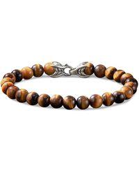 David Yurman 'spiritual Beads' Tigers Eye Bracelet - Brown