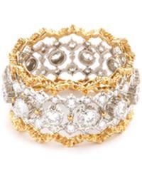 Buccellati 'rombi Eternelle' Diamond Gold Openwork Ring - Metallic