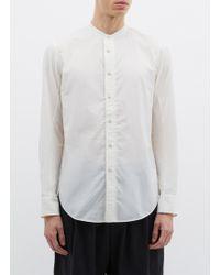 Ziggy Chen - Mandarin Collar Shirt - Lyst