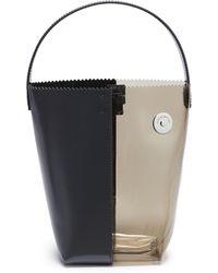 Kara - 'pico' Leather And Pvc Bucket Bag - Lyst