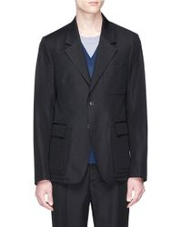 Maison Margiela Virgin Wool-cotton Blazer - Black