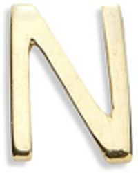 Loquet London - 18k Yellow Gold Letter Charm - N - Lyst