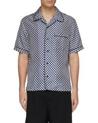You As - Fish Scale Print Silk Short Sleeve Shirt - Lyst
