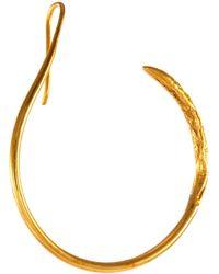 MISHO Interrupted Hoop Mini Earrings Women Accessories Fashion Jewelry Earrings Interrupted Hoop Mini Earrings - Metallic