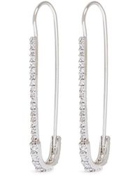 CZ by Kenneth Jay Lane - Cubic Zirconia Safety Pin Earrings - Lyst