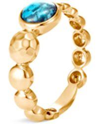 John Hardy 'dot' Turquoise 18k Yellow Gold Ring - Metallic