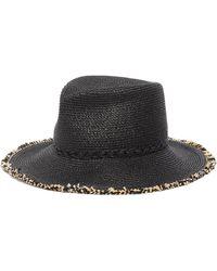 Eric Javits 'mykonos' Fringed Fedora Hat - Black