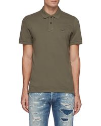 Denham Regency' Patch Logo Cotton Blend Polo Shirt - Green
