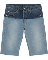 Vetements - Colourblock Unisex Denim Shorts - Lyst