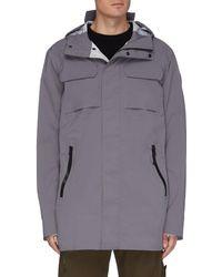 Canada Goose Wascana' Hooded Raincoat - Grey