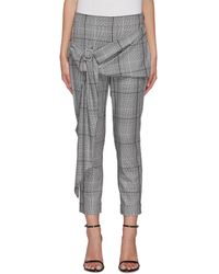 Hellessy 'pierre' Check Print Buckle Detail Pants - Gray
