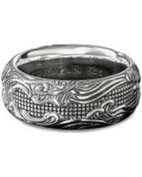 David Yurman 'waves' Silver Ring - Metallic