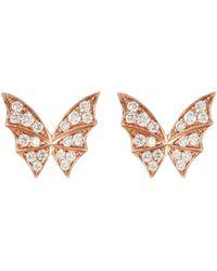 Stephen Webster - 'fly By Night' Diamond 18k Rose Gold Stud Earrings - Lyst
