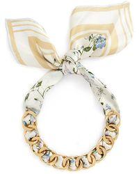 W. Britt - Curb Chain Building Print Silk Scarf Tie Necklace - Lyst
