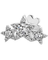 Maria Tash 'star Garland' Diamond White Gold Single Threaded Stud Earring