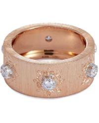 Buccellati 'macri' Diamond Gold Ring - Metallic