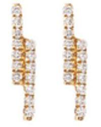 Khai Khai - 'linear' Diamond 18k Yellow Gold Earrings - Lyst