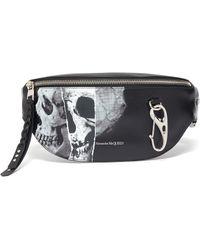 Alexander McQueen Men's Skull Oversized Belt Bag/fanny Pack - Black