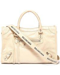07394d3bf6 Balenciaga - 'classic City' Logo Strap Small Leather Shoulder Bag - Lyst
