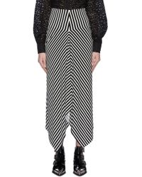 Norma Kamali 'double Side' Stripe Skirt - Black