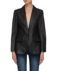 FRAME 70s Leather Blazer - Black
