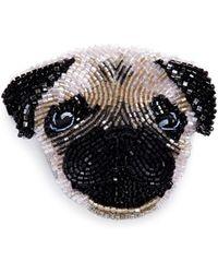 Mignonne Gavigan - Beaded Dog Brooch – Pug - Lyst