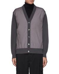 Nanamica Global Exclusive Hybrid Cardigan - Grey