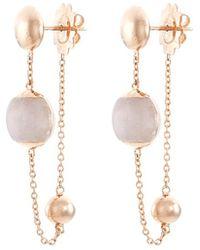 Roberto Coin - Jade 18k Rose Gold Beaded Chain Drop Earrings - Lyst