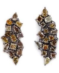 Monique Péan | 'atelier' Diamond 18k Gold Earrings | Lyst