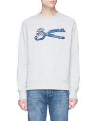 Denham - 'wave Sweat' Logo Embroidered Sweatshirt - Lyst