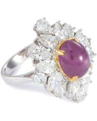 LC COLLECTION Diamond Ruby 18k White Gold Ring - Metallic