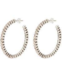 Philippe Audibert Swarovski Crystal Hoop Earrings - Metallic