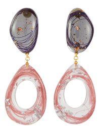 Ejing Zhang 'kaare' Resin Link Teardrop Earrings - Multicolour