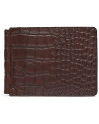 Jean Rousseau - Alligator Leather Money Clip Wallet - Lyst