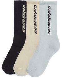 Yeezy - 'calabasas' Intarsia Socks 3-pack Set - Lyst