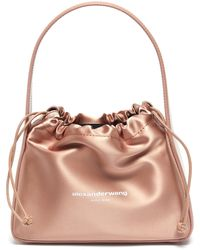 Alexander Wang 'ryan' Drawstring Satin Bag - Multicolour
