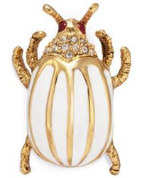 Kenneth Jay Lane | Glass Crystal Stripe Beetle Pin | Lyst