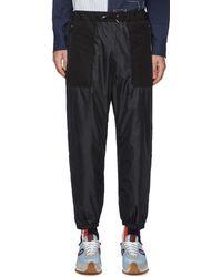Sacai Panel Detail Drawstring jogger Trousers - Black