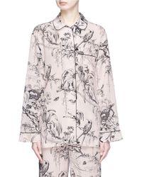 Alexander McQueen - Botanical Print Silk Pyjama Shirt - Lyst