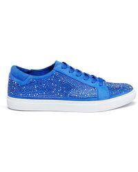 Kenneth Cole   'kam' Swarovski Crystal Embellished Suede Sneakers   Lyst