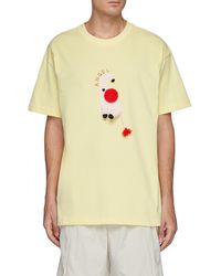 Angel Chen Oversize Hand Crochet Elephant T-shirt - Yellow